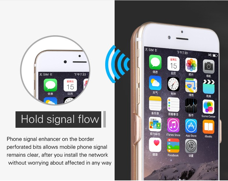 2 in 1 Backup phone Text Function 3500mah Power Bank Rechargeable External Battery Power Case Carregador for iPhone6/6s