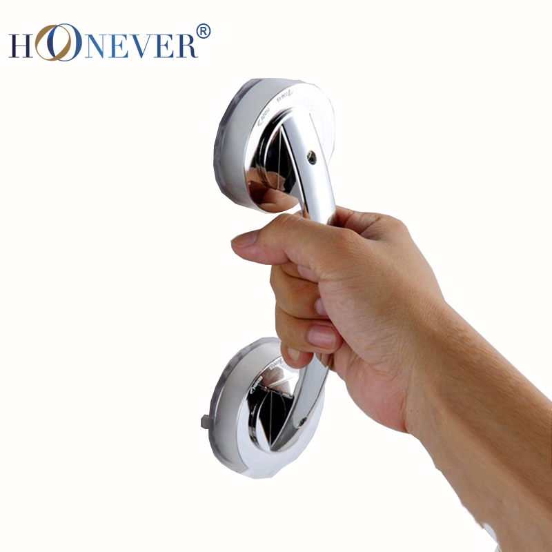Cheap Pull/Push Silver Suction Cup Bathroom Door Handles Safety Grip Rail Free Shipping(China (Mainland))