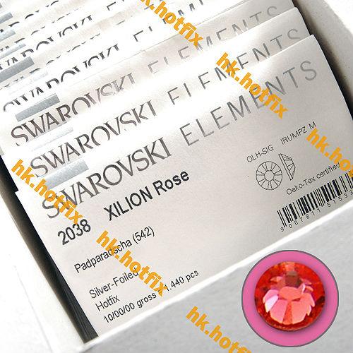 GENUINE Swarovski Elements ss8 Padparadscha ( 542 ) 720 pcs. Iron on 8ss Craft  Flatback Crystal 2038 Hotfix rhinestones