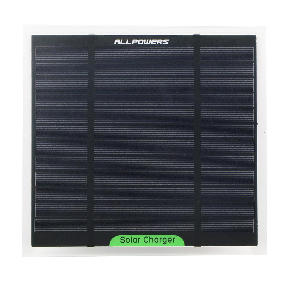 ALLPOWERS 6V 700mAh 4.2W Mini Monocrystalline Solar Panel Small DIY PET Solar Panel Power Portable Outdoor Charger(China (Mainland))