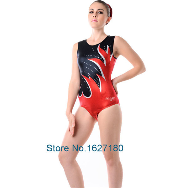 New ! Mystique Fabric Girls Professional Rhinestone Gymnastics Leotard. Dance Leotard With Sleeveless DS-007(China (Mainland))