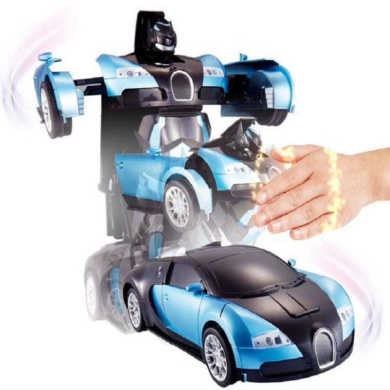 Hot Sales Luxury Sportscar Models gesture Deformation Robot Transformation Remote Control RC Car Toys Kids Gift Free Shipping(China (Mainland))