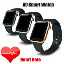 2015 умных часов андроид износ Bluetooth водонепроницаемый Smartwatch с монитором сердечного ритма для Android Samsung IOS телефон часы A9