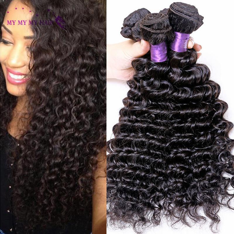 Tissage Peruvian Virgin Hair Deep Wave 4 Bundles Luxy Hair Company Unprocessed Peruvian Deep Curly Virgin Hair Human Hair Weave<br><br>Aliexpress