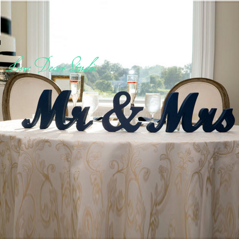 free shipping mr mrs wedding table signs for sweetheart table decor wooden letters large mr