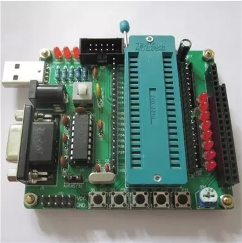 DIY the learning board kit suit the parts 51/AVR microcontroller development board learning board STC89C52(China (Mainland))