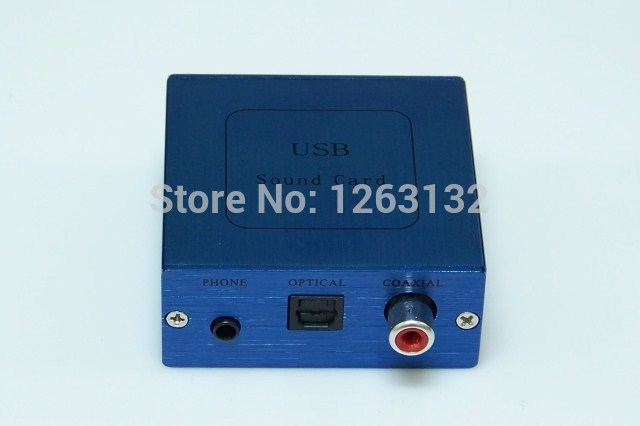 Support coaxial optical fiber channel 5.1 source output CM6206 external USB sound card DAC decoder computers(China (Mainland))