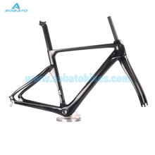 Buy Wholesale 700C Full Carbon Road Racing Bicycle Frame Fork Frameset UD Gloss finish for $415.00 in AliExpress store