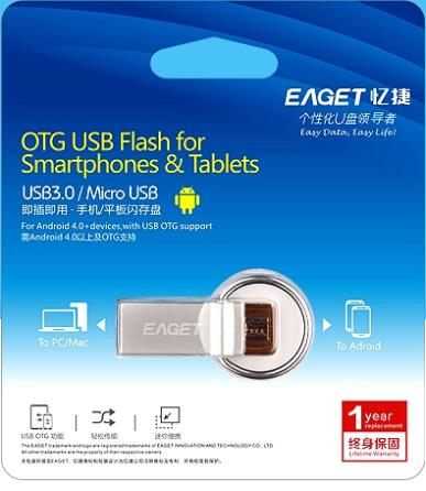 EAGET V90 USB 3 0 100 64GB Smart Phone Tablet PC USB Flash Drives OTG external