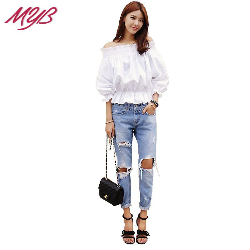 2015 Spring Summer New Korean Style Fashion Denim Jeans