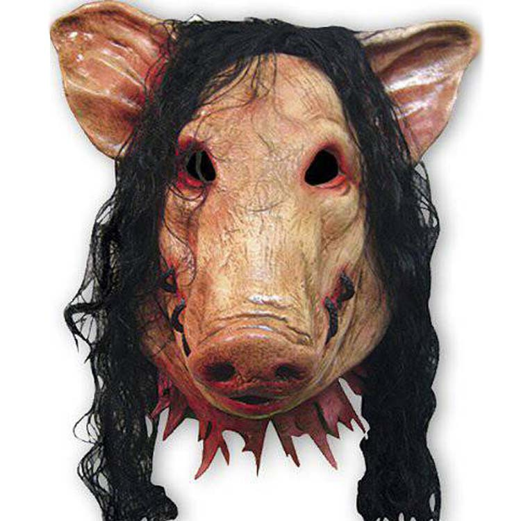 Scary Creepy Pig Masks Full Face Halloween Birthday Barty Festival Party Rubber Costume Theater Realistic Animal Cosplay Mask(China (Mainland))