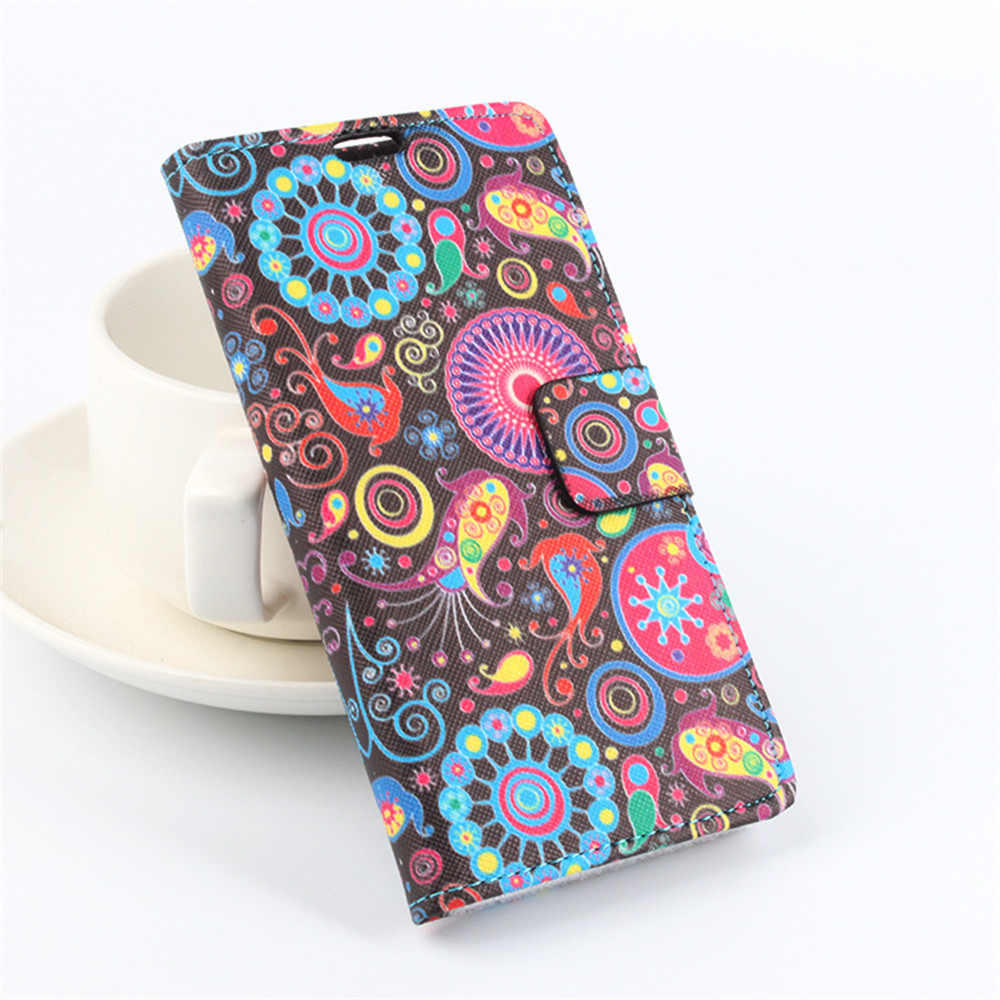 For Homtom HT3 Case with Card Holder Painting PU Leather Flip Stand Wallet Cover For Doogee Homtom HT3 Mobile Phone Case(China (Mainland))