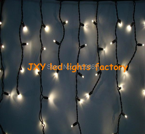 220V 3.5M 96 Led Icicle Curtain String Lights for Christmas Party+ Tail Plug(China (Mainland))