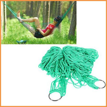 Portable High Strength Hammock Camping Yard Sleeping Lounge Hanging Bed - Green()
