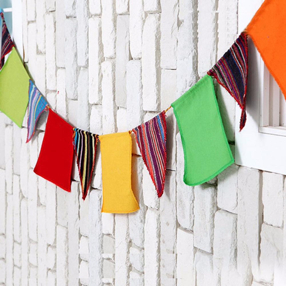 14pcs 13ft Flags Wedding Birthday Party Camping Tent String Flag Bunting Banner(China (Mainland))