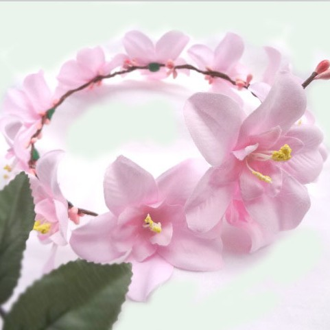 Handmade wedding Bridal Hair Accessory Party Woman White Flower Wreath Fashion Girls headband garland