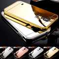 Case For Samsung Galaxy S5 case Luxury Aluminum Frame Mirror Acrylic Mirror Cover Mobile Phone Cases