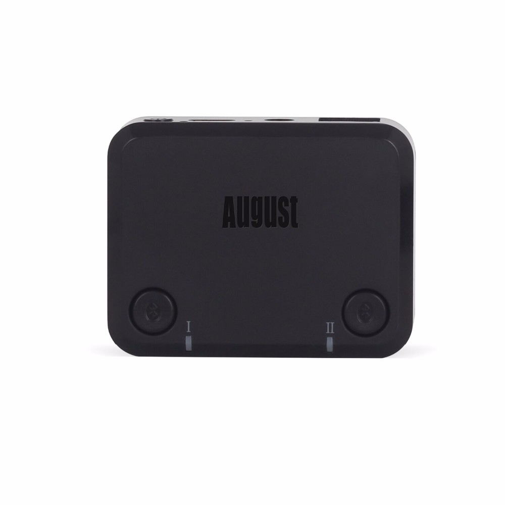 August MR270 aptX LOW LATENCY Optical Audio Bluetooth Transmitter for TV Wireless Audio Adapter for Dual Headphones Speakers