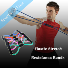 Yoga expander Latex Elastic Stretch Resistance Bands Yoga 8 Type Sport Bands Exercise For Body Building Fitness Equipment Tools