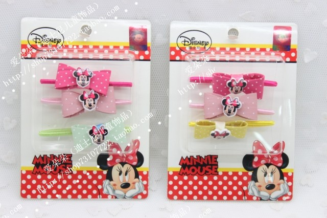 Free shipping Baby Girl kids headwear set Mickey cute hair band hair accessories Boutique Hair rope headbands(China (Mainland))