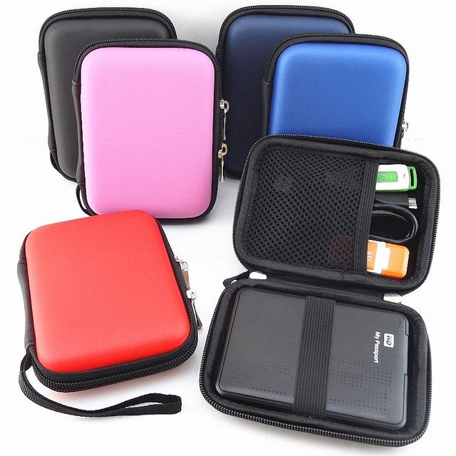 Portable estuche para disco duro externo Zipper External 2.5 HDD Case Pouch Hard 2.5 GPS Hard Disk Drive hdd hard case GH1328(China (Mainland))