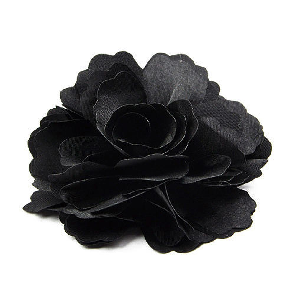 New Hotsale Promotion UK Silk Flower Hair Clip Brooch Wedding Corsage Flower Clip 8cm Brooch Accessory(China (Mainland))