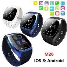 Водонепроницаемый Smartwatch M26 bluetooth-смарт часы с из светодиодов Alitmeter музыкальный плеер usb-шагомер для IOS Android смартфон