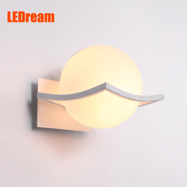 New arrival unique and novelty led wall lamps glass ball wall lights for home E27 AC220V FREE SHIPPING(China (Mainland))