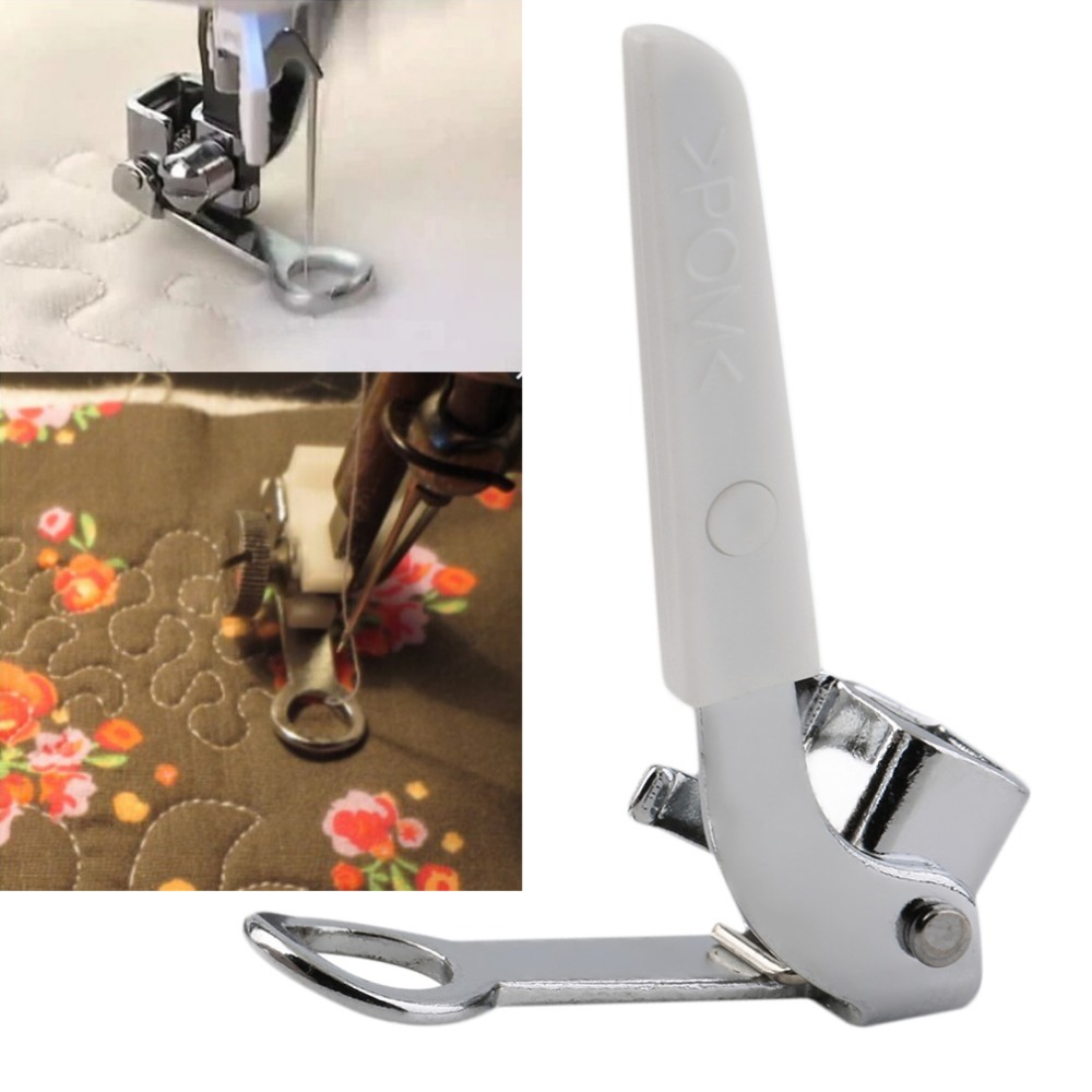 1 pcs Side Cutter Presser Foot/Embroidery Darning Foot for Low-Shank Sewing Machine New(China (Mainland))