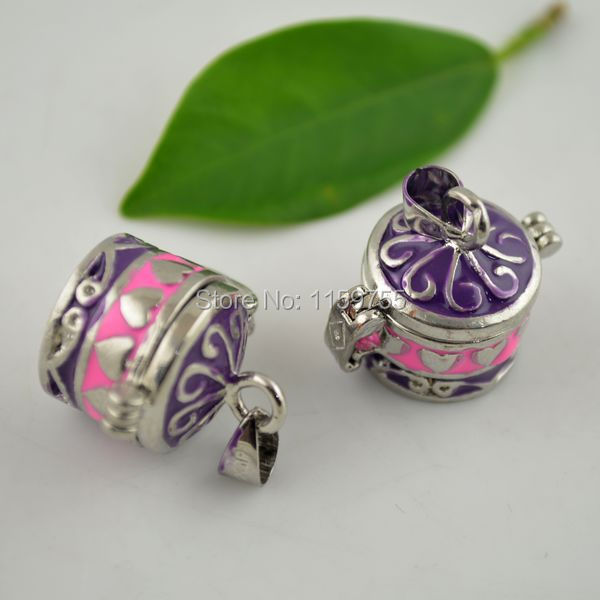 Wholesale 30pcs Enamel Pink Prayer Box Charm Pendant(China (Mainland))