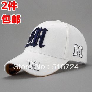 Free shipping Outdoor hat baseball cap summer cap male female spring and summer white