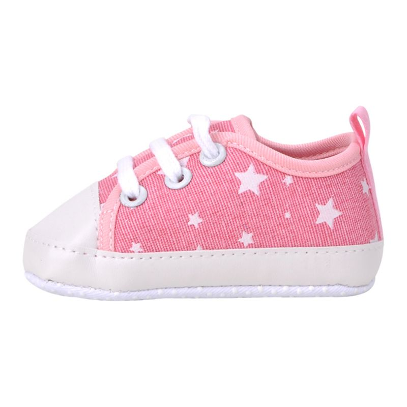 0-18M Boys Girls Baby Canvas Lace Up Crib Shoes Soft Soled Sneakers Prewalker<br><br>Aliexpress