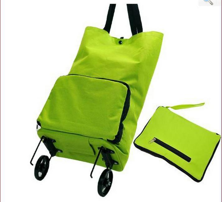 Hot Sale Free Shipping Portable Shopping Cart Foldable Shopping Trolley Tote Bag With Wheel