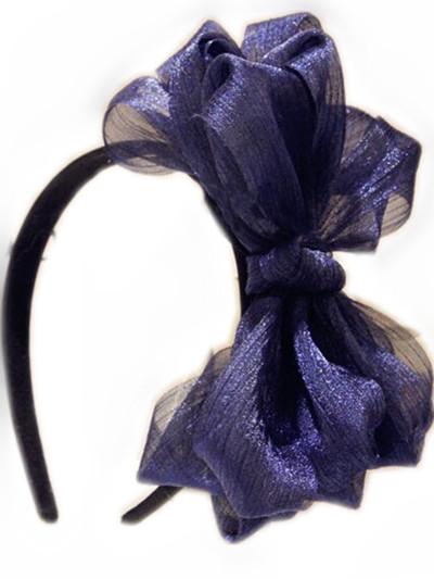 8 inches Large bow Freeshipping fashion elegant fascinator lace silk bridal british royal style knot boutique hair bow(China (Mainland))