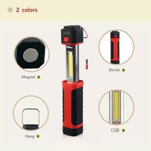 New Telescopic Flexible COB + LED Flashlight Torch Magnetic Pick Up Light Lanterna Linternas Lamp Torch With Mini Zoomable(China (Mainland))