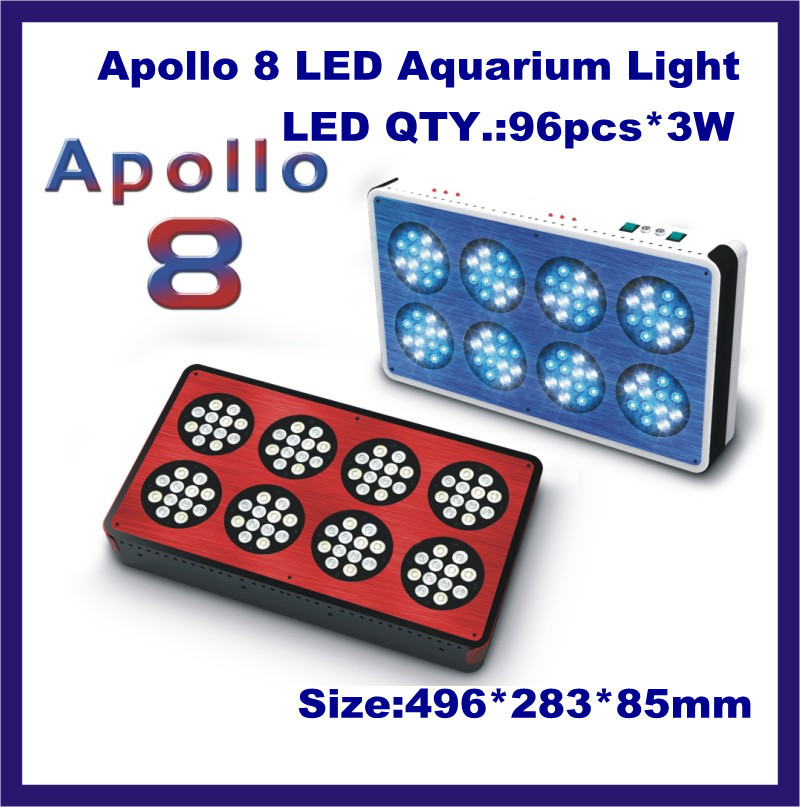 Best Seller Apollo 8 LED Aquarium light for coral reef ,saltwater fish(China (Mainland))