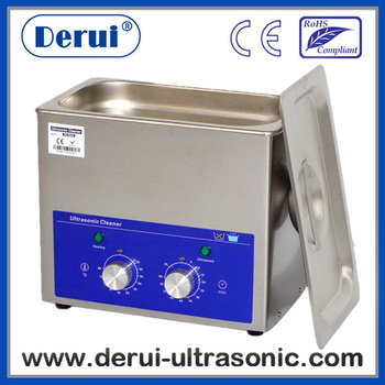 Free basket, Derui ultrasonic cleaner supplier with timer and heated DR-MH30 3L