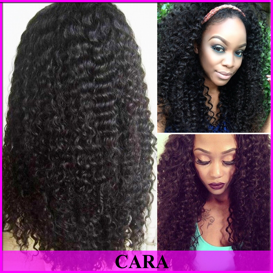 6A Glueless Full Lace Human Hair Wigs For Black Women Brazilian Virgin Hair Kinky Curly Lace Front Wig 8-24inch Rosa Hair Wigs(China (Mainland))