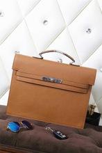 EMS FreeShipping Men's Famous Brands Designer Classic Briefcase High Quality Litchi Handbags Genuine Leather 38cm Portfolio Bags(China (Mainland))