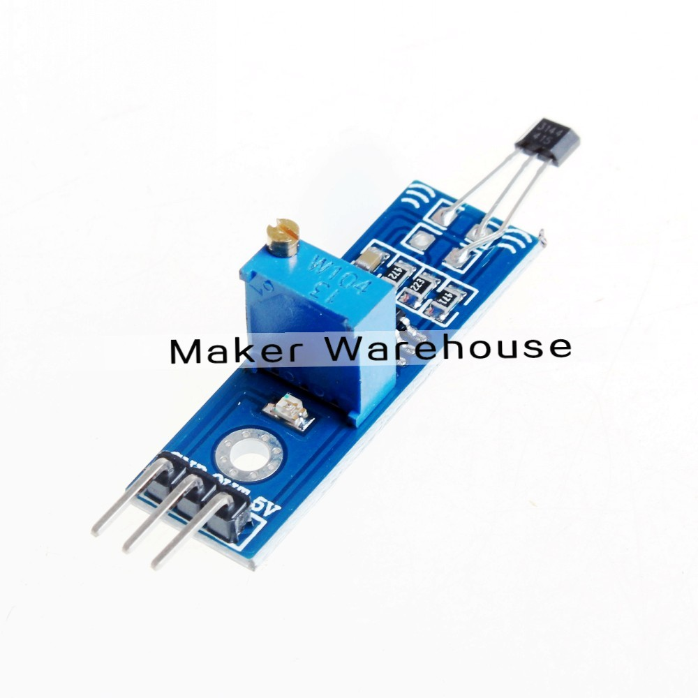 Hall Sensors Module, Magnetic Swiches Speed Counting Module For Arduino Smart Car(China (Mainland))