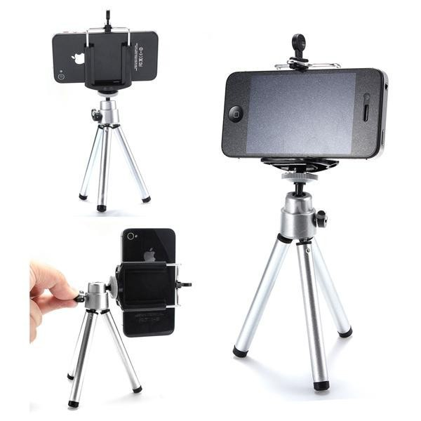 how to connect a phone to a tripod