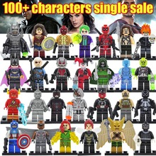 Sola venta Minifigures individualmente venta Marvel Super Hero the Avengers Iron Man Batman bloques juguetes modelo legoelieds(China (Mainland))