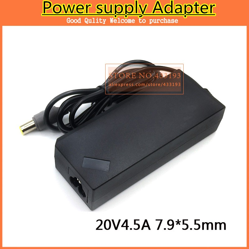 US NEW AC Power Supply Adapter Charger for IBM Laptop 20V 4.5A 90W 7.9x5.0mm