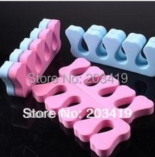 heart Daily Soft Toe Finger Separator divider EVA Nail Art care tool for separate stands Manicure Pedicure  wholesale  whcn(China (Mainland))