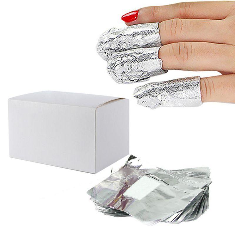 150pcs/lot Aluminium Foil Soak-Off Gel Polish Remover Cleaner Wraps Nail Art Tool Wholesale(China (Mainland))