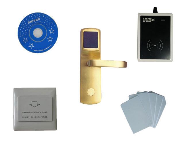 Free ship DHL,T57 hotel lock system,include T57 hotel lock, usb hotel encoder,energy saving switch,T57 card,sn:CA-8013_T57