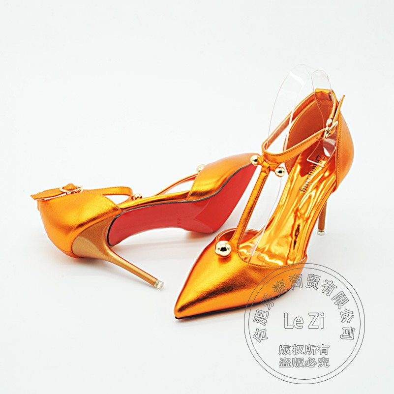Arrival Designer Shoes For Women Heels Shoes Funky Plain Winkle Picker Plateau Daily T Strap Trendy Sexy Women Pumps Closed Toe(China (Mainland))