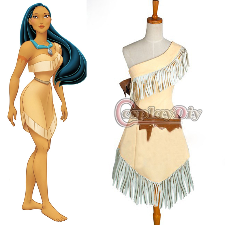 Custom Made Pocahontas Indian Princess Dress Movie Cosplay Costume For AdultОдежда и ак�е��уары<br><br><br>Aliexpress