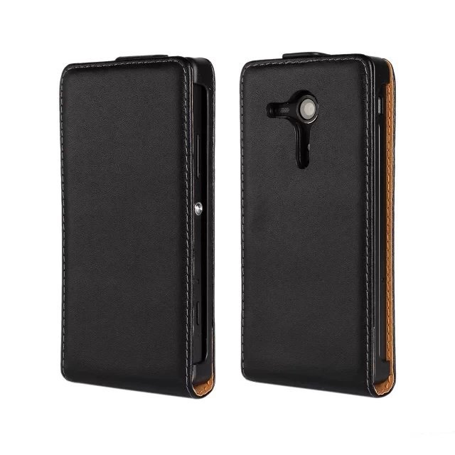 High Quality Genuine Leather Magnetic Flip Skin Case For Sony Xperia SP M35h Cover Cases PY(China (Mainland))