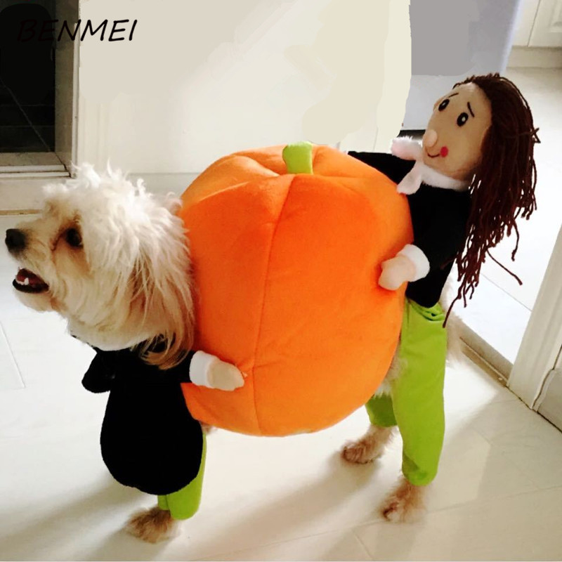 BENMEI Funny Pumpkin Dog Clothes Costume Best Quality Warm Dog Coat Jacket Pet Dog Clothing Pet Clothes For 2-9kg Dog(China (Mainland))